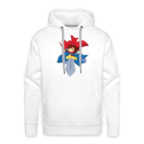 Combattante à l'épée - T-shirt - Sweat-shirt à capuche Premium pour hommes