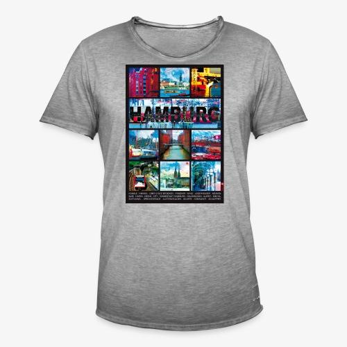Hamburg Collage 01 Hansestadt Andenken Geschenkide - Männer Vintage T-Shirt