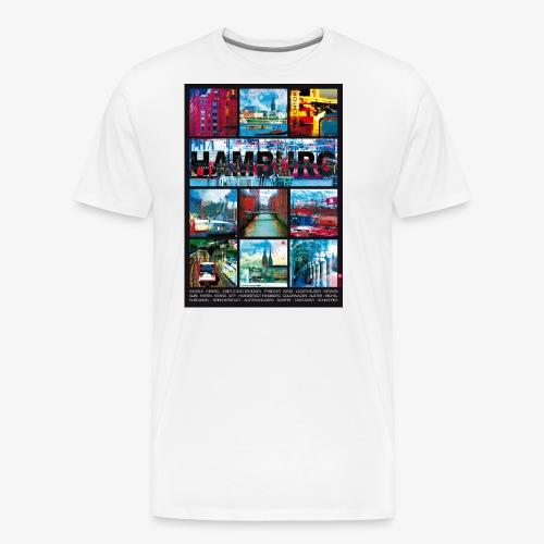 Hamburg Collage 01 Hansestadt Andenken Geschenkide - Männer Premium T-Shirt