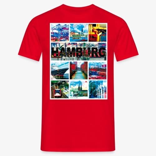 Hamburg Collage 04 Hansestadt Andenken Geschenk Fr - Männer T-Shirt