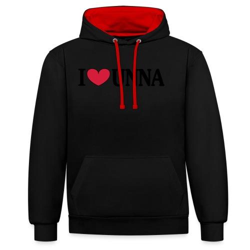 I love Unna - Männer T-Shirt klassisch - Kontrast-Hoodie