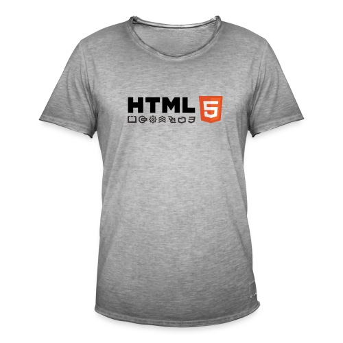T-shirt HTML 5 - T-shirt vintage Homme