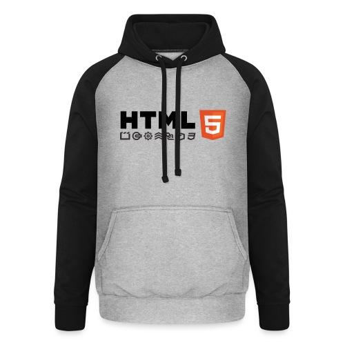 T-shirt HTML 5 - Sweat-shirt baseball unisexe