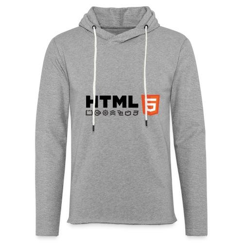 T-shirt HTML 5 - Sweat-shirt à capuche léger unisexe