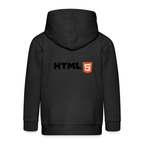 T-shirt HTML 5 - Veste à capuche Premium Enfant