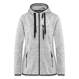 Zipper, front and back print - Frauen Kapuzen-Fleecejacke