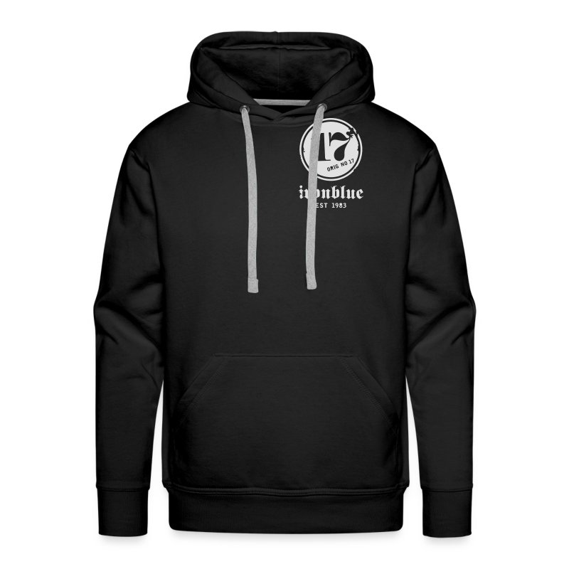 Zipper, front and back print - Männer Premium Hoodie