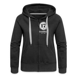 Zipper, front and back print - Frauen Premium Kapuzenjacke