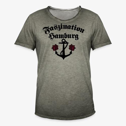 Faszination Hamburg Anker und Rosen Frauen Shirt - Männer Vintage T-Shirt