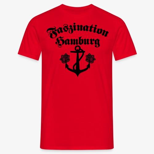 Faszination Hamburg Anker und Rosen Frauen Shirt - Männer T-Shirt