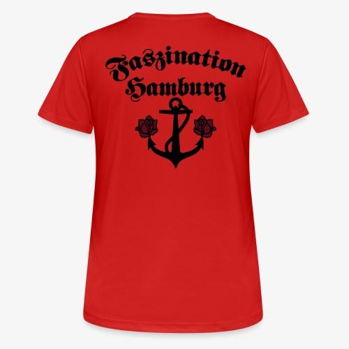 Faszination Hamburg Anker und Rosen Frauen Shirt - Frauen T-Shirt atmungsaktiv