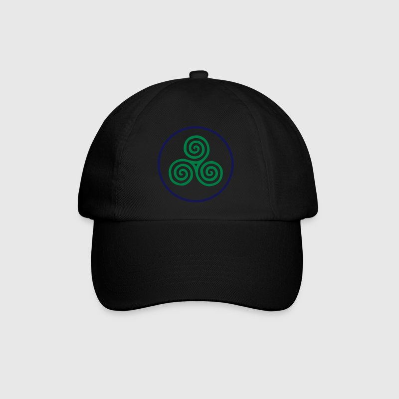 Celtic Triskel 2 colour vector Caps & Hats - Baseball Cap