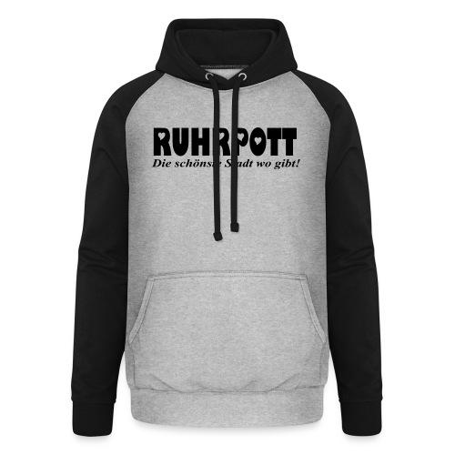 RUHRPOTT - die schönste Stadt wo gibt! - Frauen Kapuzenpullover - Unisex Baseball Hoodie