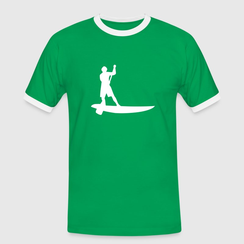 Sup, de pie remo, surf, surf, Supen, stand up paddle surf camisetas - Camiseta contraste hombre