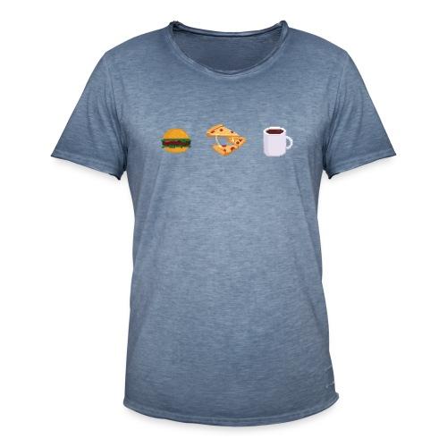 Pixel Food T-shirt - T-shirt vintage Homme