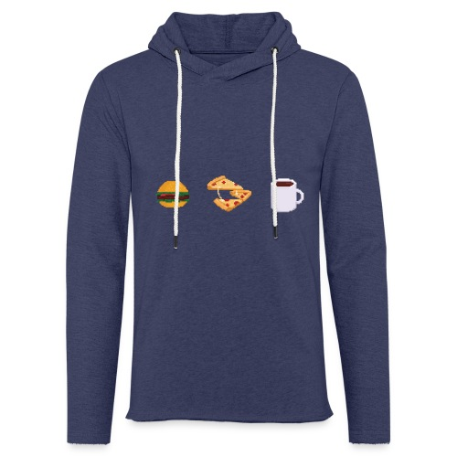 Pixel Food T-shirt - Sweat-shirt à capuche léger unisexe