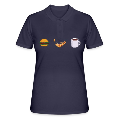 Pixel Food T-shirt - Women's Polo Shirt