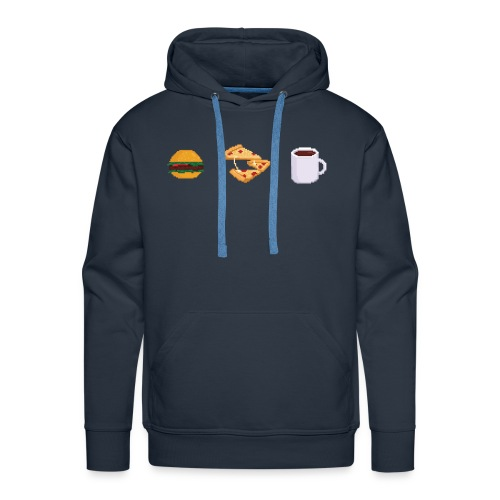 Pixel Food T-shirt - Sweat-shirt à capuche Premium pour hommes