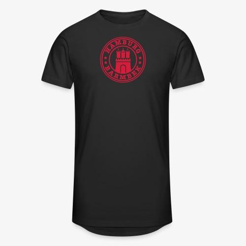 HAMBURG Barmbek - Hamburger Wappen Fan-Design HH Männer Shirt - Männer Urban Longshirt