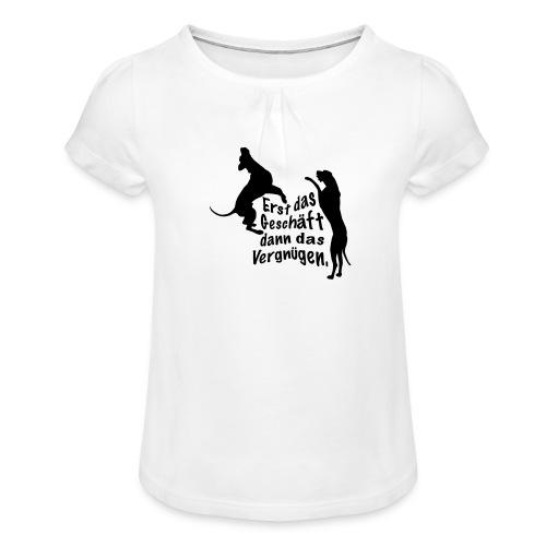 Dienerinnen Becher - Mädchen-T-Shirt mit Raffungen