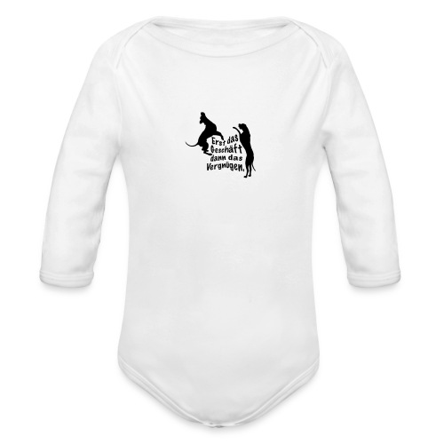 Dienerinnen Becher - Baby Bio-Langarm-Body
