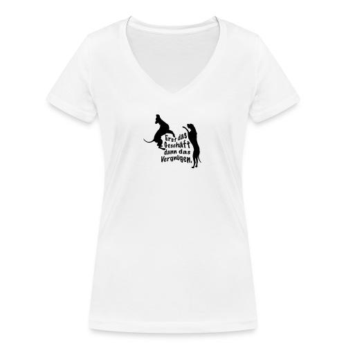 Dienerinnen Becher - Frauen Bio-T-Shirt mit V-Ausschnitt von Stanley & Stella