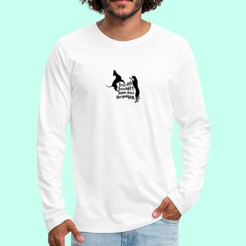 Dienerinnen Becher - Männer Premium Langarmshirt