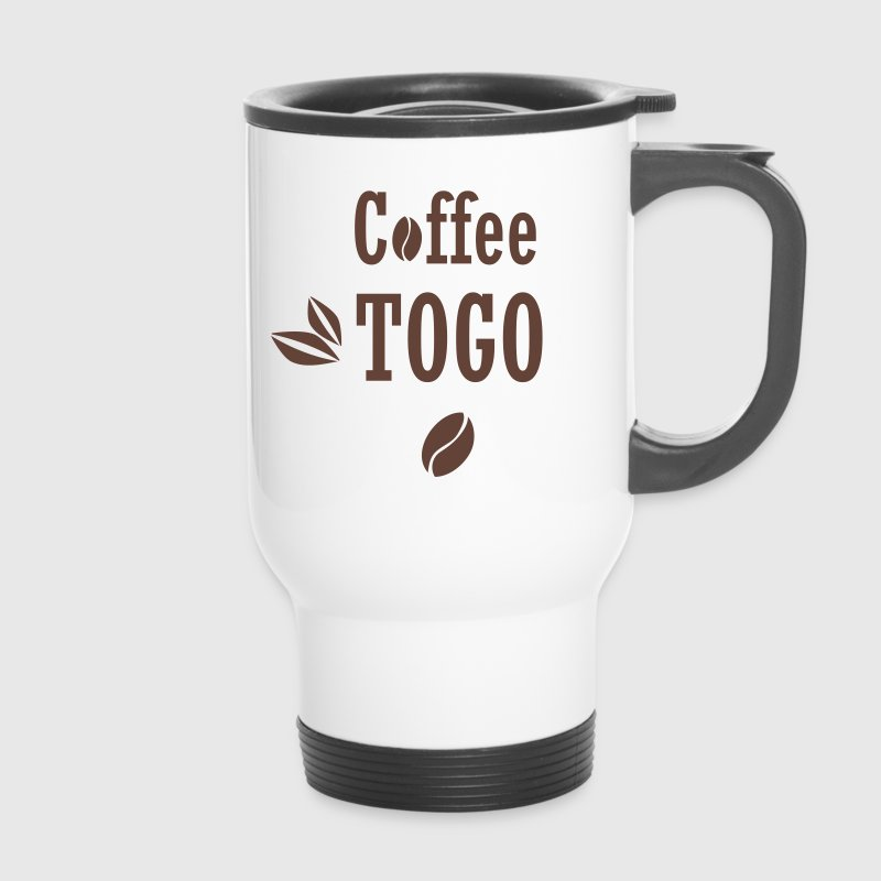 coffee to go togo kaffee lustig spr che thermobecher spreadshirt. Black Bedroom Furniture Sets. Home Design Ideas