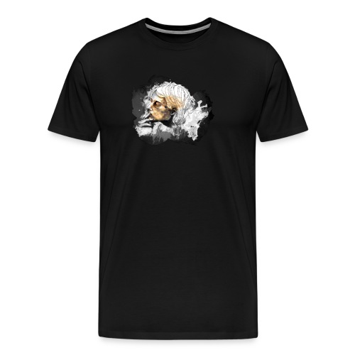 Smoking Kurt by carographic @ Jute Beutel black - Männer Premium T-Shirt
