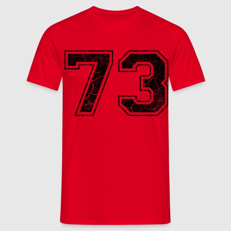 Number 73 in the grunge look T-Shirts - Men's T-Shirt