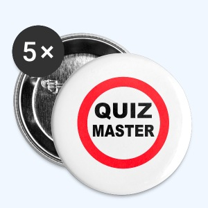 QuizMaster Beer Mug - Buttons small 25 mm