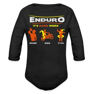 Enduro - It's hard work FlexShirt HQ - Baby Bio-Langarm-Body