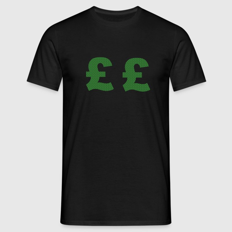 Black Pound Sign Men's Tees - Men's T-Shirt