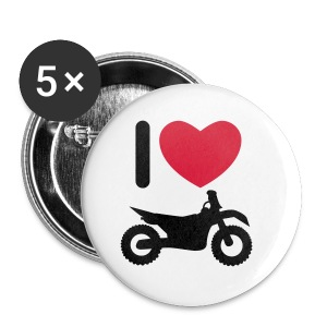 I love biking FlexShirt HQ - Buttons klein 25 mm