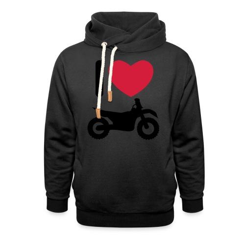 I love biking FlexShirt HQ - Schalkragen Hoodie