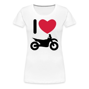 I love biking FlexShirt HQ - Frauen Premium T-Shirt