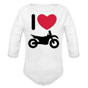 I love biking FlexShirt HQ - Baby Bio-Langarm-Body