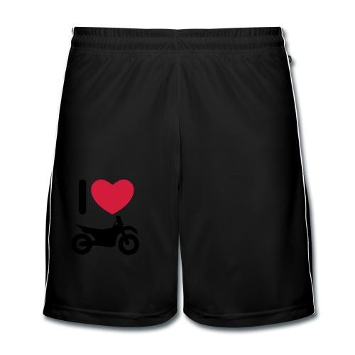 I love biking FlexShirt HQ - Männer Fußball-Shorts