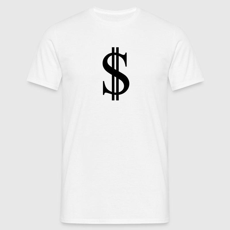 Dollarzeichen T-Shirts - Männer T-Shirt