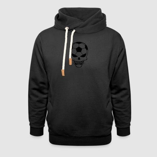 Totenkopf Tasche schwarz - Schalkragen Hoodie