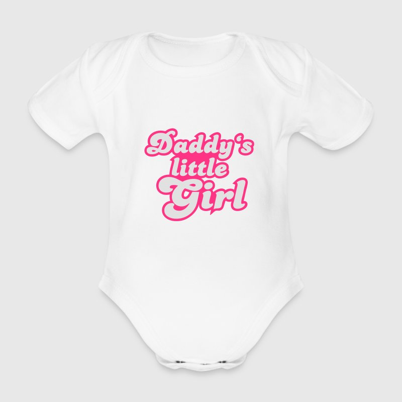 Daddy's little girl Tee shirts - Body bébé bio manches courtes