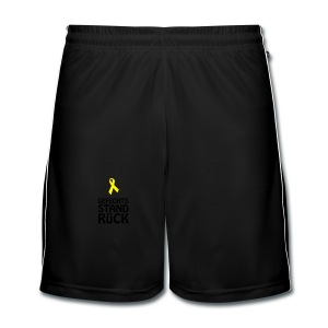 Teddy mit gelber Schleife Gefechtstand Rück - Männer Fußball-Shorts