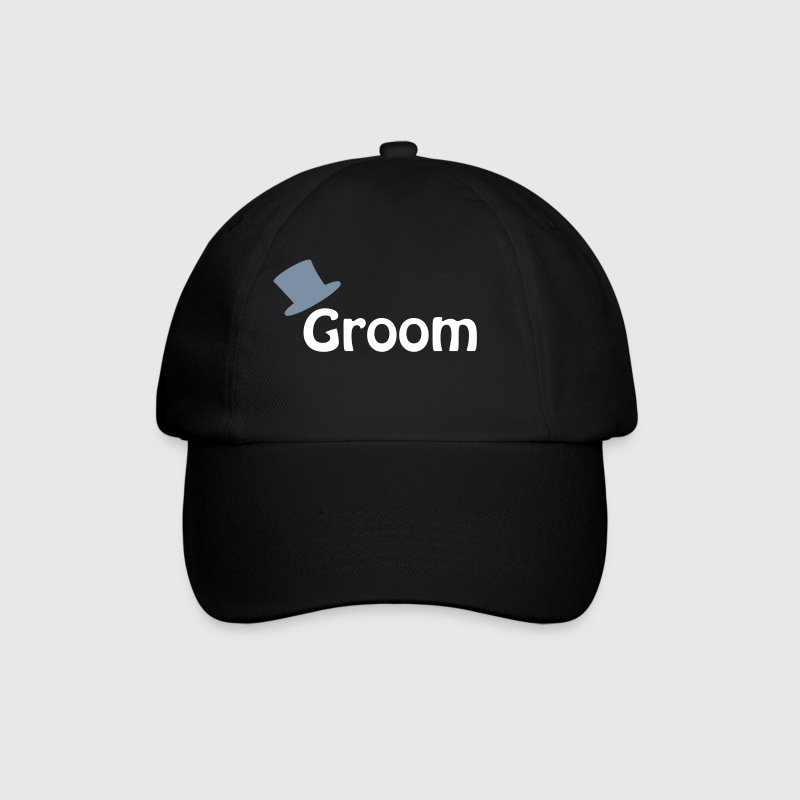 Black/black Groom Caps & Hats - Baseball Cap