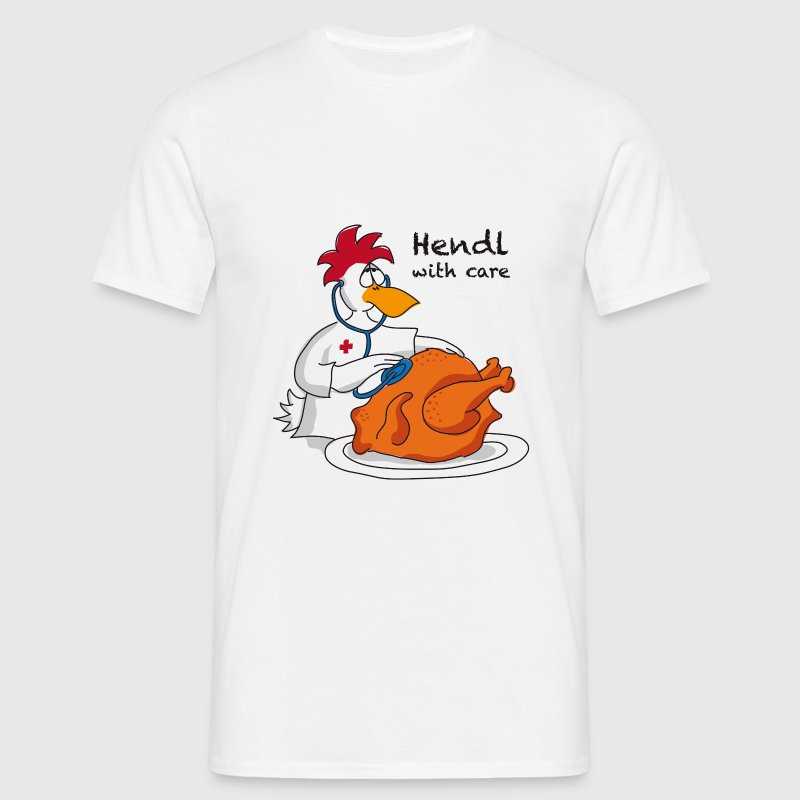 Hendl with care - Männer T-Shirt