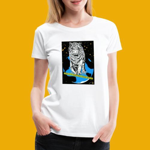 baseballcap met koe - Vrouwen Premium T-shirt