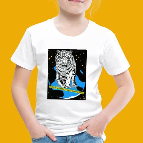 baseballcap met koe - Kinderen Premium T-shirt