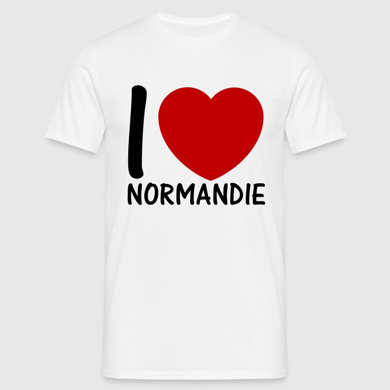 i love normandie 2c Tee shirts - T-shirt Homme