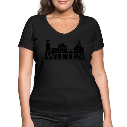 Skyline Witten - Männer Kapuzenpulli - Frauen Bio-T-Shirt mit V-Ausschnitt von Stanley & Stella