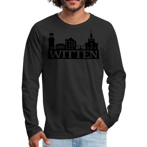 Skyline Witten - Männer Kapuzenpulli - Männer Premium Langarmshirt