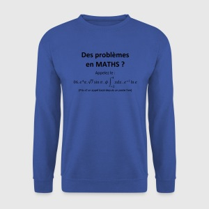 problemes_en_maths_humour Tabliers - Sweat-shirt Homme